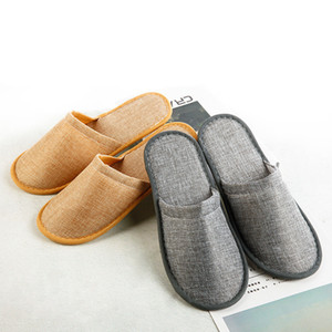 High-quality Comfortable Linen Slippers Hotel Travel Spa Disposable Slippers Casual Spa Adults Unisex Home Guest Anti Slip
