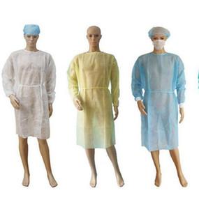 Auf Non Woven Einweg-Kittel Wasserdichte Isolation Kleidung Schutzkleidung One Time Non-Woven-Gewebe-Schutzanzüge IIA378