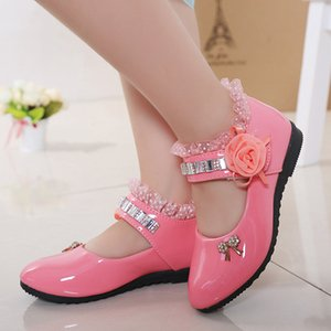 New Spring Girls Shoes Princess Ballet Flats Dance Party Wedding Shoes Rhinestone Children Shoes for 3-12 Years Old Kids