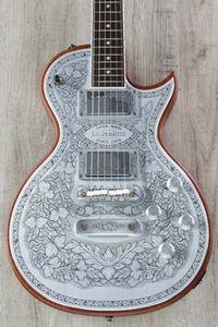 New Zemaitis C24MF NT Casimere métal avant Guitare électrique Touche palissandre
