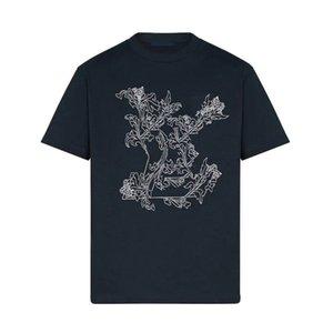 20SS gestickte Blumen-T High End Männer Frauen Solid Color T-Shirt atmungsaktiv beiläufigen Sommer mit kurzen Ärmeln High Street im Freien T HFYMTX984