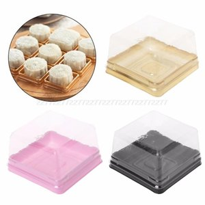 80g Square Moon Cake Trays Mooncake Packaging Box Container Holder 50 Sets Au15 dropship