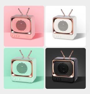 New Hand-held Bluetooth Speaker Retro Style Portable Audio Player Mini Cute Wireless Stereo Bluetooth Loudspeaker Box 4 Colors
