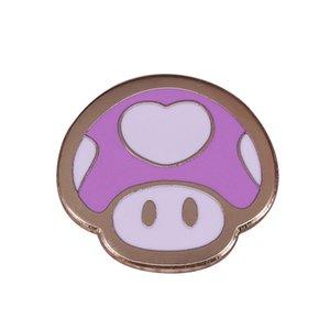 Super Mario Heartshroom broche de la princesa Peach accesorios de video juegos