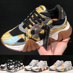 Moda Italiana Squalo Sneakers Hiker a donne degli uomini del nuovo progettista Barocco Homme Bianco Stampa fondo spesso all'aperto Casual Shoes Size 36-45