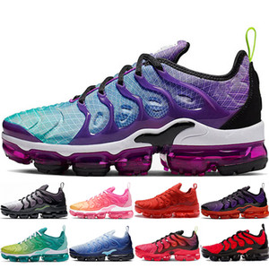 Nike Air Vapormax Vapor Vapors Tn Shoes der Frauen der Männer tn und Laufschuhe Hyper Violet Schwarz weiß Volt Bumblebee Hellgrau BE TRUE im Freien zu Fuß Turnschuhe chaussure