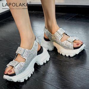 Lapolaka 2020 Sıcak Satış Moda Rahat Ayakkabı Kadın Sandalet Kadın hookloop Yüksek Kaliteli Yaz Sandalet Ayakkabı