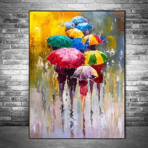 Abstract Portrait Oil Paintings On Canvas Modern Nordic Art Prints Girl Holding An Umbrella Wall Art Pictures Living Room Home Decoration