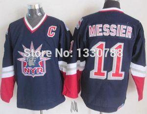 Barato Original New York Rangers Jersey Mark Messier Liberty Navy Blue Alterna 1998 CCM Vintage NY Rangers Hockey Jerseys