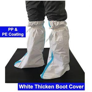 1 день корабль PP + PE Покрытие Нетканые ткани Одноразовая Белый Синий ботинка ног Бахилы втулки Headgear Hat Изоляция крышки