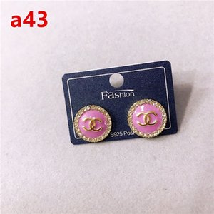 우표 패션 다이아몬드 후프 CC 귀걸이 여성 여성을위한 orecchini을 aretes 되세요