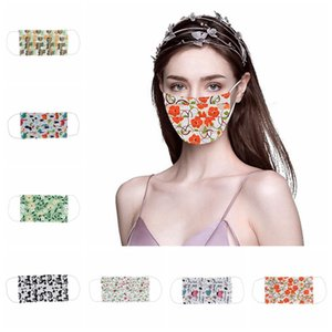 Printing Face Mask Anti Dust Protective Mask Summer Thin Spongs Mouth Cover Adults Children Washable Designer Masks IIA255