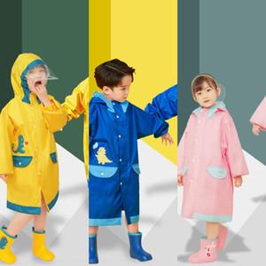 dinossauros crianças aluno menino schoolbag com artes Schoolbag chuva capa de chuva capa capa de chuva poncho bebê menina grande criança do jardim de infância da criança