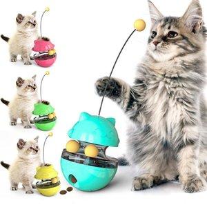 인터랙티브 고양이 장난감 텀블러 누설 식품 볼 친환경 ABS 식품 용기 디스펜서 고양이 자체 티저 스틱 트랙 볼 T200720