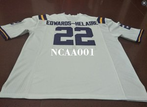 men #22 Purple White Clyde Edwards-Helaire LSU Tigers Alumni College Jersey or custom any name or number jersey