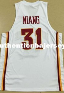 #31 Georges Niang Jersey,Men's Red White Yellow Stitched high quality embroidery Jersey