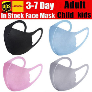 Anti Dust Face Mouth Cover PM2.5 Mask Respirator Dustproof Anti-bacterial Washable Reusable Ice Silk Cotton Masks Tools In Stock