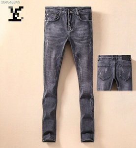 19 summer handsome fashion jeans men's Europe and the United States high-end slim feet pants micro-bomb youth wild jeans 62725