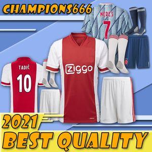 Gli ultimi prodotti !!!! kit per adulti Ajax FC maglia da calcio 20 21 ZIYECH TADIC HUNTELAAR Dolberg Schöne uomini giovani vestito maglie di calcio con i calzini