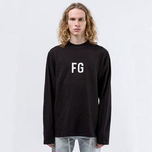 20SS FEEAR OFF GOOD 6 FG 티 레트로 문자 인쇄 긴 소매 셔츠 하이 스트리트 패션 커플 여성 남성 T 셔츠 HFXHWY154