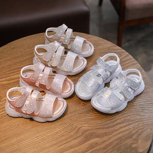 Fashion Toddler Girl Sandals Infant Kids Baby Crystal Shoes Bling Summer Princess Shoes Sandals Non-slip Kids Beach Sandal