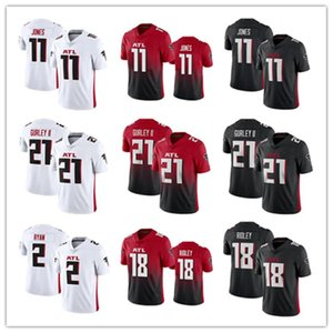 2020 neue Mens Atlantas Falcon 11 Julio Jones 21 Todd Gurley II 18 Ridley genähtes 2 Matt Ryan Fußballjerseys