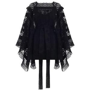 Sonbahar Yeni Moda Kadın Zarif Elbise Yeni Desen Suit elbise Uzun Kadın Tide Moda Siyah Sonbahar Dantel Elbise