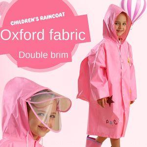 double vestuário de protecção brim homens capa de chuva uGfji Meninas SF clothingisolation protetora de roupas infantis para crianças urgentes máscara capa de chuva