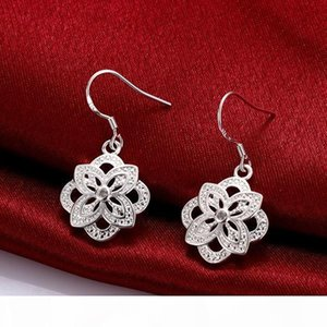 F High Grade Fashion Women &#039 ;S Gemstone 925 Silver Earring 10 Pairs Mixed Style ,Cheap Sterling Silver Dangle Chandelier Earrings