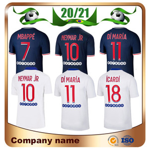 20/21 NEYMAR JR Jersey de football 2020 Paris Accueil Verratti Cavani Mbappe Soccer Shirt Di Maria Draxler Uniformes de football