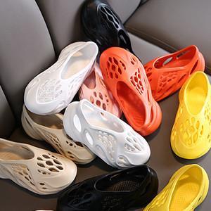 Мальчик Девочка Дизайнерская обувь Сандалии лета малышей Открытый Повседневный кроссовки Дети Hollow сандалии дышащий пляж Обувь для мальчиков девушка мода сандалии