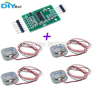 Consumer Electronics 4pcs 50KG Human Scale Body Load Cell Resistance Half-bridge Strain Weight Sensor + 1pcs HX711 AD Weighing Module