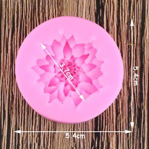 3D 로터스 국화 꽃 웨딩 케이크 장식 도구 DIY 베이킹 퐁당 실리콘 몰드 양초 비누 수지 점토 금형