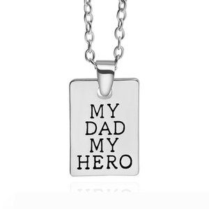 New style my Dad my Hero father's day personalized pendant necklace 2018