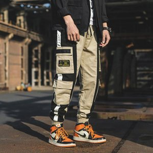 2019 Discount Only Today Cargo Pants For Men Black Pocket Japanese Streetwear Summer Oversized Male Cargo Pants Trousers