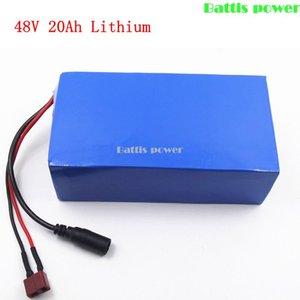 Recarregável 48v 20Ah lítio Li ião 3.7V bateria lipo com BMS para 1500w Ebike momorcycle scooter de ferramentas eléctricas + carregador 3A