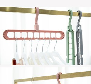 2pcs Magic Non-slip Multi-port Support For Clothes Drying Rack Multifunction Plastic Clothes Rack Drying Hanger Pants Storage Hangers
