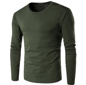 High quality HOT SELL New Fashion Brand Men T Shirt Men Cotton T-Shirt Casual Clothes Solid Color Long Sleeve Slim Fit T Shirt