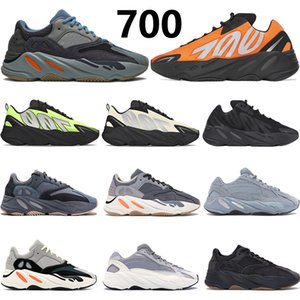 2020 Yeni Tie-boya Karbon mavi Turuncu 700 Yansıtıcı Kanye West koşu ayakkabıları mıknatıs OG Katı Gri Vanta üçlü siyah erkekler kadınlar spor ayakkabısı