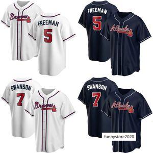 2020 new Warriors baseball uniform Braves #5 Freeman #7 Swanson jersey