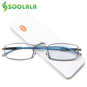 SOOLALA Mini Sticky SOS-Nasen-Klipp Folding Lesebrille Damen Herren Lesebrille Herren Go Überall Metall Brillen