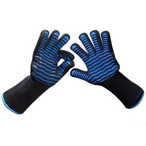 Bbq Gloves High Temperature 500 Celsius Fireproof Microwave Oven Gloves Heat Insulation Baking Hiking And Camping Camping & Hiking Ant 9Dpo#