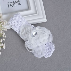 FD08- butterfly Elastic rhinestone lace hair band baby hair accessories baby photo props elastic band