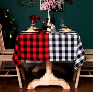 Lavabile Cotone Lino classico plaid rettangolo Tovaglia Table Cover Grande per pranzo cucina tavolo buffet Decoration DWE189