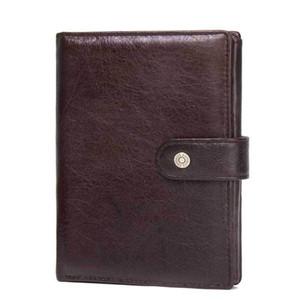ABER 2020 New Crazy Horse Leather Fashion Hasp solido casuale Holder Cartella Documenti multifunzione passaporto Portafogli