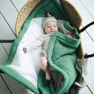 Winter Baby Knitted Sleeping Bag Newborn Stroller Swaddle Wrap Envelopes Blanket Mattress Kid Bedding Accessories t22b#