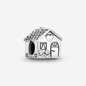 Sweet Home Yeni Geliş 925 Gümüş Little House Charm Fit Orjinal Avrupa Charm Bilezik Moda Takı Aksesuar