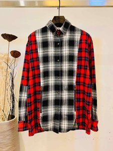 2020 new fashion men's long-sleeved casual shirt high-quality fabric color grid fabric European and American style mens designer shirts