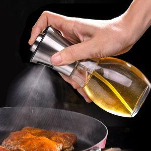 Zeytinyağı Püskürtme Dağıtıcı Cam Sirke Sprey Şişe barbekü baharat Baharat Kavanozu Mutfak Araçlar 200ml JK2005XB Damlası