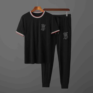 New Arrivals Summer mens tracksuit short sleeve T-shirt and shorts casual suitprots set men Round neck t shirts outdoor sports suits S-2XL